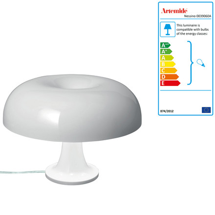 Artemide Nessino table lamp, white