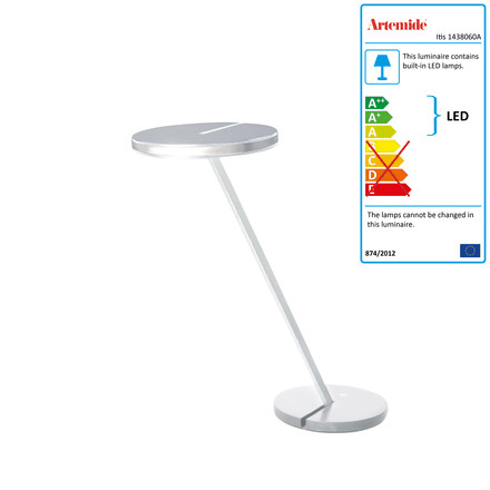Artemide Itis table lamp, white