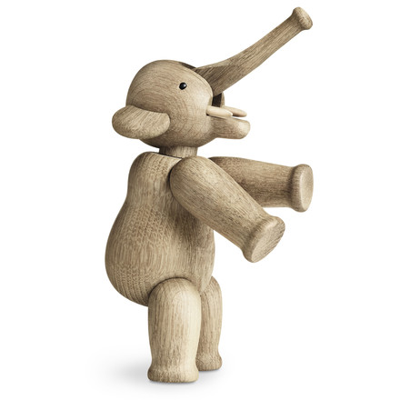 "The wooden elephant can stand up: ""They should remind you of a circus"", that is how Kay Bojesen usually described his wooden works. The elephant is very popular among kids."