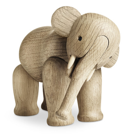 Single image of the Wooden elephant by Kay Bojesen Denmark. The Danish company Rosendahl Design Group manufactures the wooden animals in tight cooperation qith Kay Bojesen's family today.