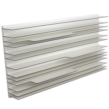 spectrum - Paperback shelving system in white- 120 x 60 cm