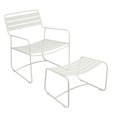 Fermob - Surprising Lounger and Footstool in Cotton White