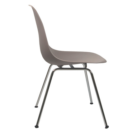 Eames Plastic Side Chair - DSX / mauve grea / felt slides