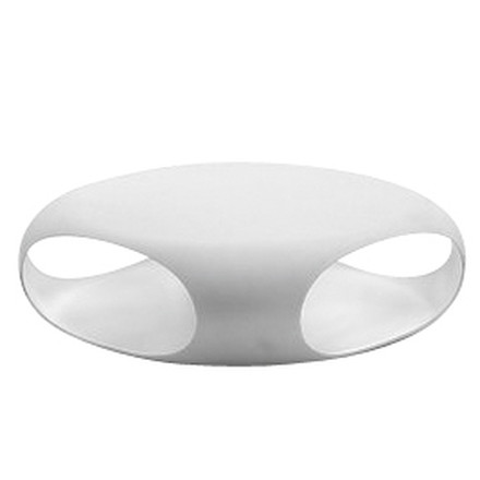 Single image: Pebble sofa table, white / white