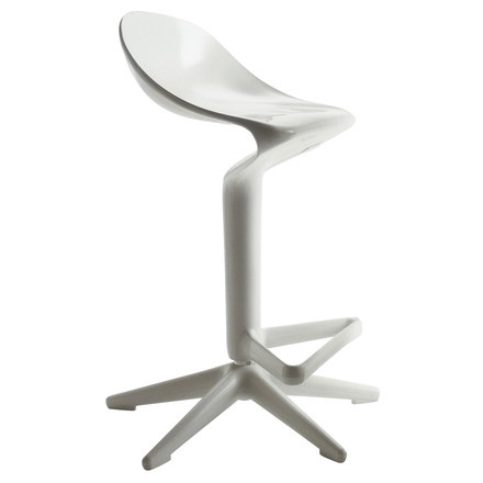 Single image: Spoon Bar Stool, white
