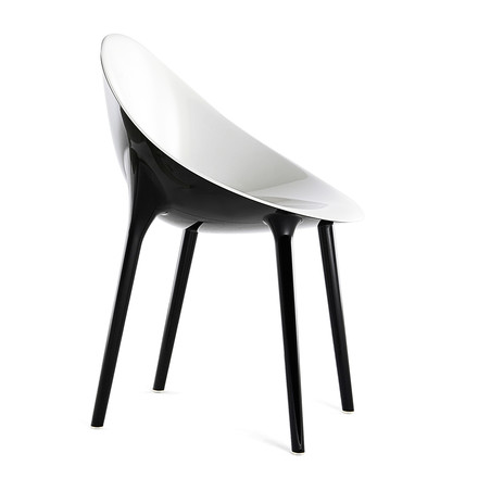 Kartell - Super Impossible Chair, white / black