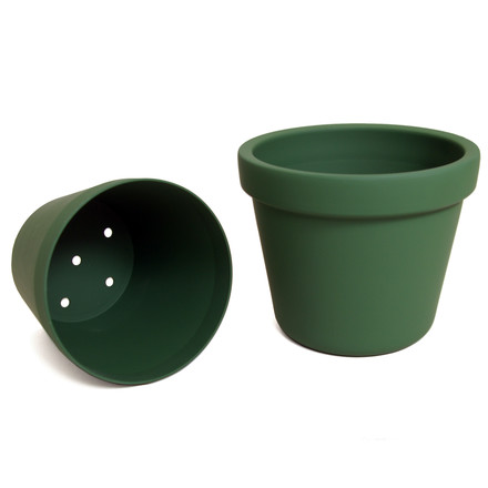 Outside In Plants Pot, green - inside and outside pot
