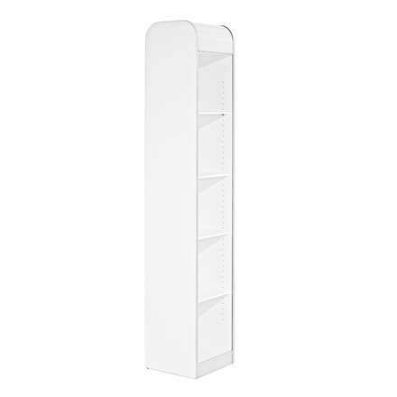 Wogg 19 Wardrobe - single, melamine, white