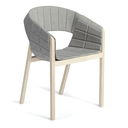 Single image: Wogg 42 Lounger, natural ash / light grey Remix