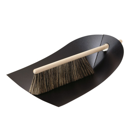 Hand brush with dustpan - black