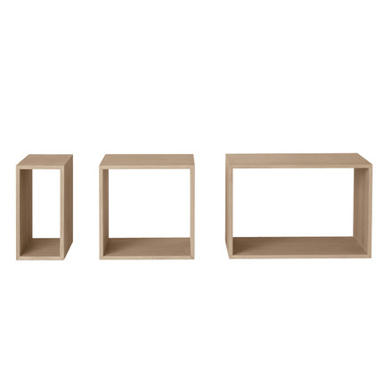 Muuto - Stacked Shelving System - ash wood