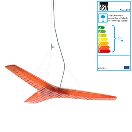 Luceplan - Aircon Pendant Lamp D50, orange