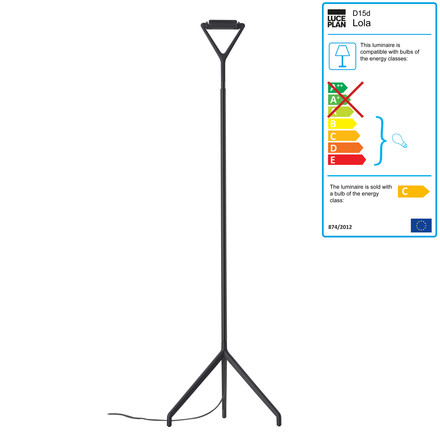 Luceplan - Lola Floor Lamp, black