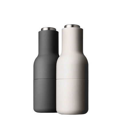 Menu - Bottle Salt and Pepper grinder-Set, small,stainless steel