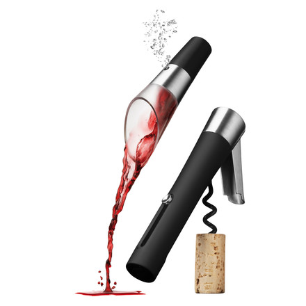 Menu - Wine-Set, decanting pourer and bottle opener Vignon
