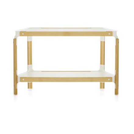 Steelwood Shelf - 2 boards / 1 module, natural beech / white