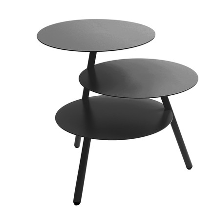 Pulpo - Trio Sidetable, deep black (RAL 9005)