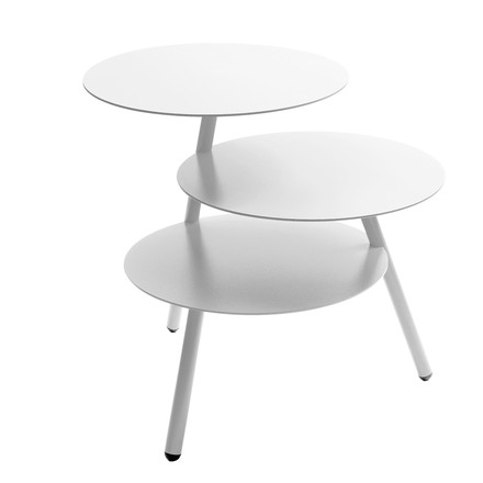 Pulpo - Trio Sidetable, traffic white (RAL 9016)