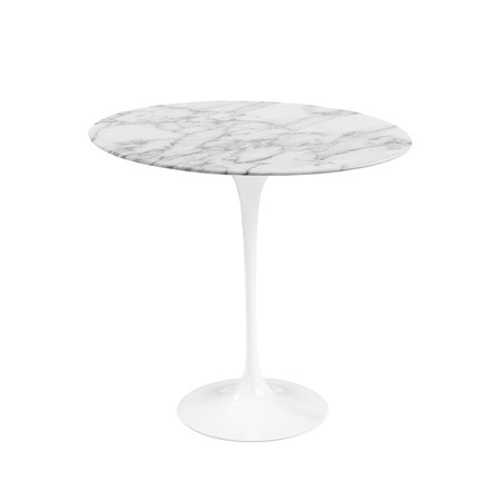 Knoll - Saarinen Tulip Side Table round - white / Marble