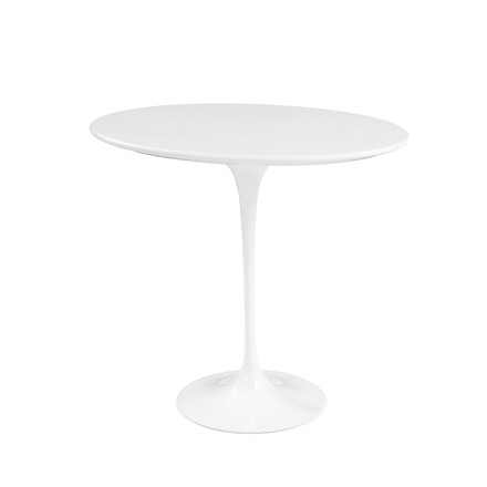 Knoll - Saarinen Tulip Side Table round - white / Laminate white