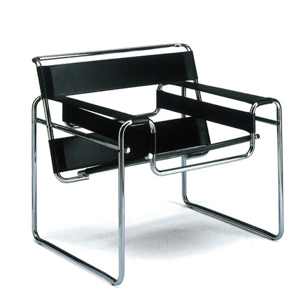 Knoll - Wassily Chair - Cow leather, black