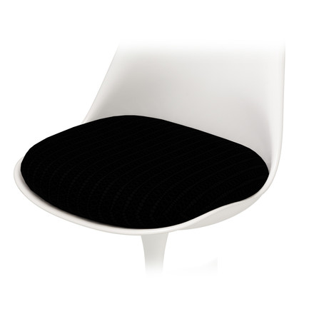 Seat Cushion for Knoll - Saarinen Tulip Chair - Hopsack, black