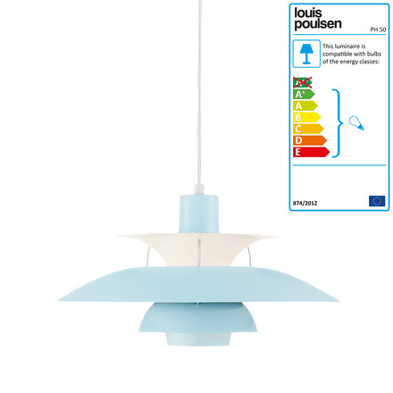 Louis Poulsen - PH 50 Pendant Lamp, mint blue