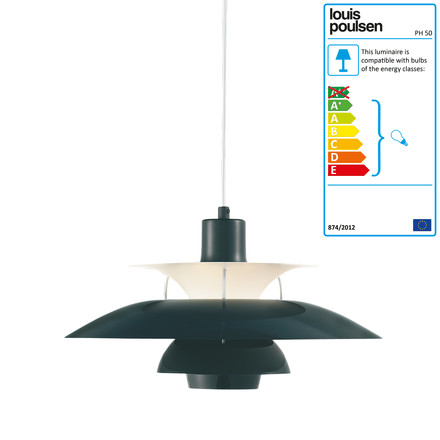 Louis Poulsen - PH 50 Pendant Lamp, olive black