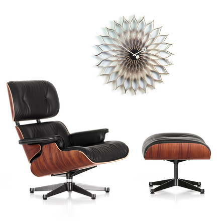 Christmas Offer: Vitra Lounge Chair & Ottoman +Sunflower Clock