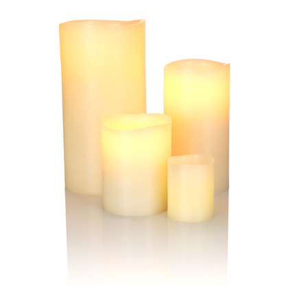 LED Real Wax Candle, ivory