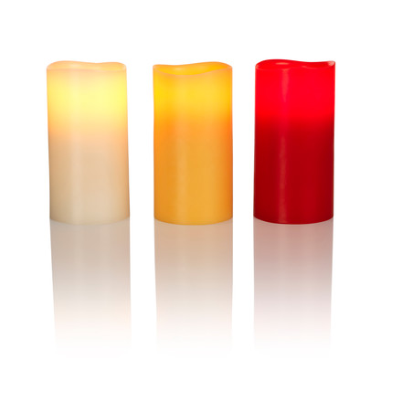 LED Real Wax Candle L