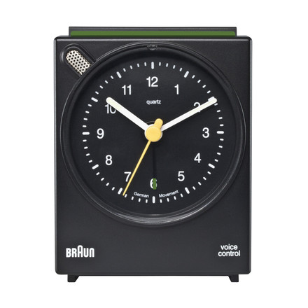 Braun Voice Activated Alarm Clock BNC004, black