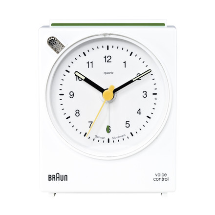 Braun Voice-Activated Alarm Clock BNC004, white