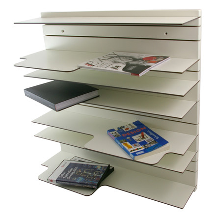 Spectrum - Paperback shelving system in white