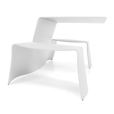 Extremis - Picnik - table and seat, white