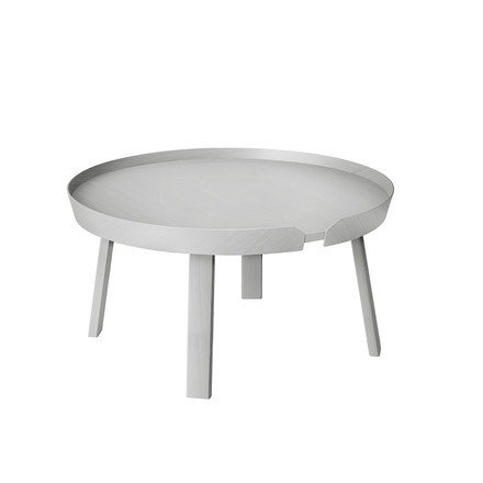 Muuto - Around couch table large, grau