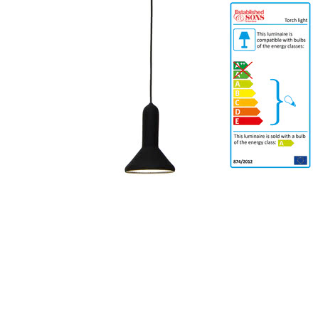 Established & Sons - Torch Light pendant lamp cone black