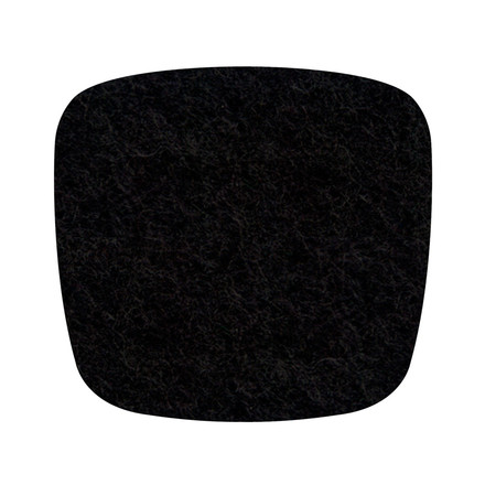 Hey Sign - Felt-Cover Eames Plastic Armchair, black 5mm AR