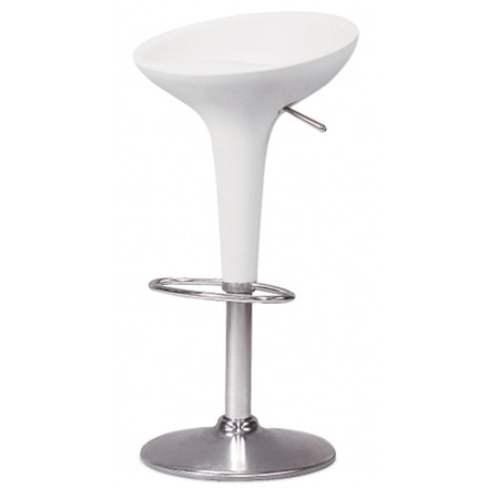 Bombo bar stool - height adjustable, white
