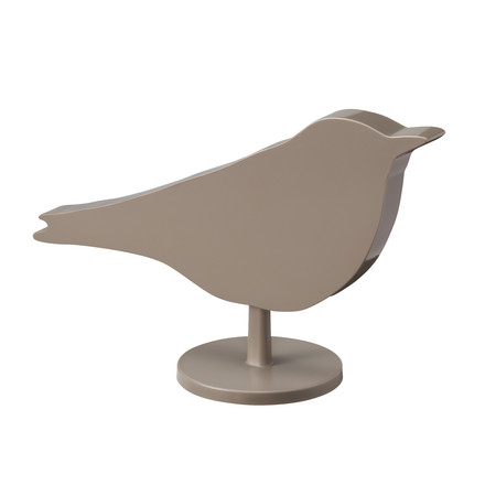 Bird Clock, back side, brown