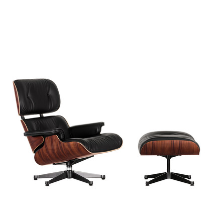 Vitra - Lounge Chair & Ottoman - Santos Rosewood