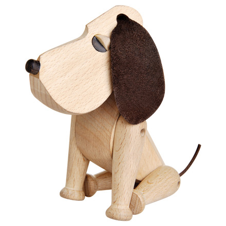Architectmade - Wooden Dog Oscar sitting