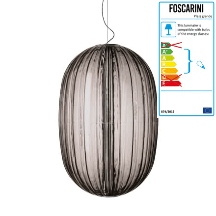 Foscarini - Plass grande Pendant Lamp, grey - single image