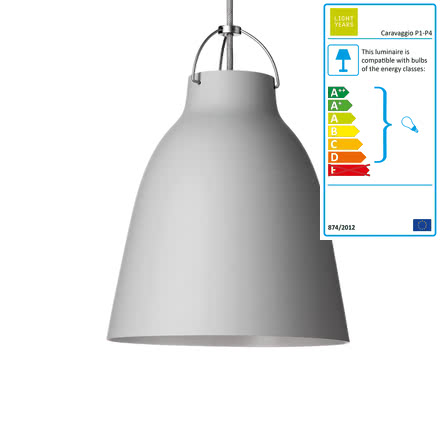 Lightyears - Caravaggio P2 Pendant matt, light grey (25)