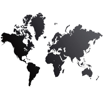 ferm Living - Wall Sticker World Map, Single picture