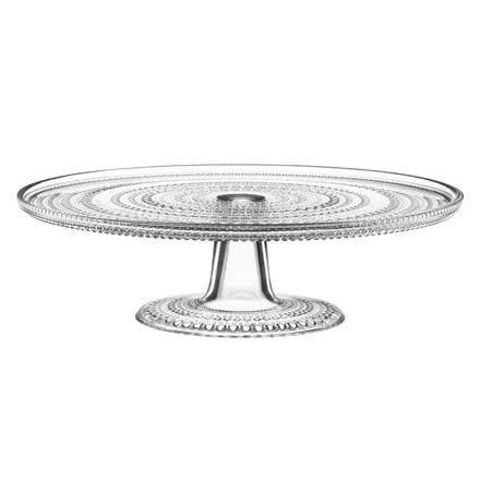 Iittala - Kastehelmi cake plate with base 31.5cm, clear, single image