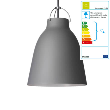 Lightyears - Caravaggio P2 pendant lamp matt, dark grey (45)