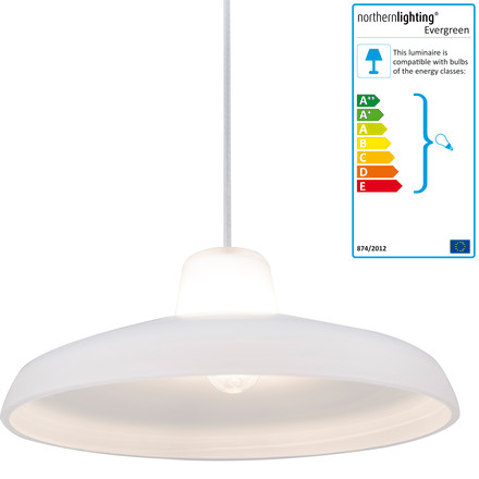 northernlighting - Evergreen pendant lamp, small, white, single image