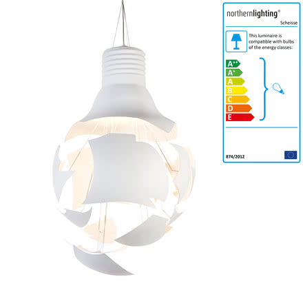 northernlighting - Scheisse pendant lamp, white, single image
