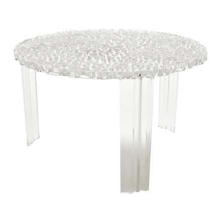 Kartell - T-Table, height 28 cm, clear, single image